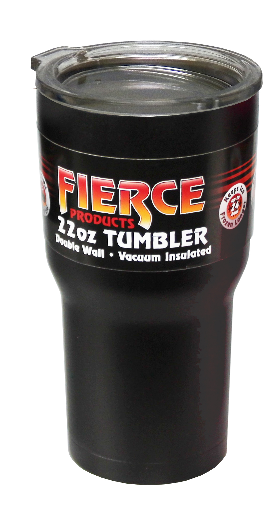 d8265ab7aa5 FIERCE 22oz. POWDER COATED STAINLESS STEEL DOUBLE WALL VACUUM SEALED  TUMBLER- MATTE BLACK